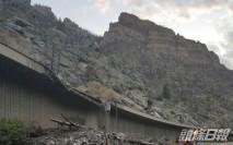 美西部山泥傾瀉堵塞公路 108人被困一夜脫困