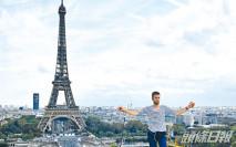 法漢巴黎鐵塔走高空軟繩