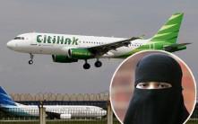 印尼確診男穿面紗冒認老婆登機 機場變裝被揭發