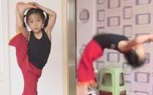 山西6歲女童連做110個後手翻 積極備戰破健力士世界紀錄