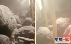 俄負26度嚴寒巴士拋錨 風雪湧入20乘客變雪條