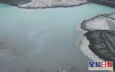湖北磷石膏庫發生滲漏 長江附近湧出「牛奶水」