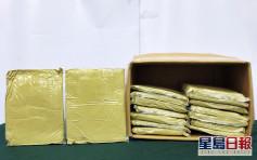 海關機場檢逾2.5公噸帽柱木鹼 市值約667萬元