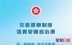 【完善選舉制度】港府推宣傳小冊子 稱「雙議席單票制」非保護建制派