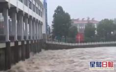 安徽淮河王家壩閘啟動開閘蓄洪 二千多人撤離