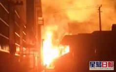 江蘇化工廠爆炸 冒出巨大火球