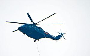 百年黨慶大會演練 直升機懸掛黨旗