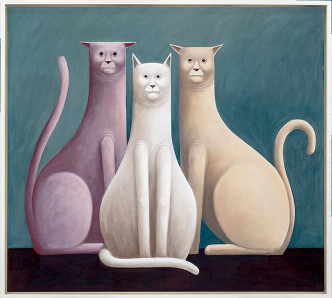 Nicolas Party, 《Three Cats》, 2016 圖:The Modern Institute
