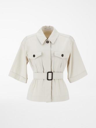 兩袋闊袖束腰上衣/$3,780/Max Mara。