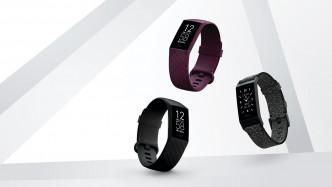 Fitbit Charge 4™/各/$1,328/F,配備最先進的感應器與游泳防水設計,支援內置GPS及Spotify[2]應用程式等功能組合,並附設健康與健身指標Active Zone Minutes功能。