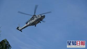 伤者由直升机送院。