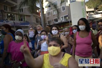 巴西是继美国之后,全球疫情次重的国家。AP资料图片